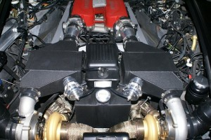 Ferrari 360 twin turbo setup finished